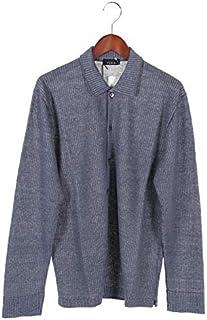 [アンドレアフェンツィ] リネン ニット シャツ 265ー15801 BLUE ブルー メンズ