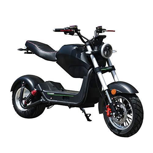 E Scooter 1500W Fat Tire Citycoco Höchstgeschwindigkeit 40km/h Offroad-Roller 60V Langstreckenbatterie Knockout Scooter Lowboy Elektroroller Erwachsene Electric Scooter mit Straßenzulassung