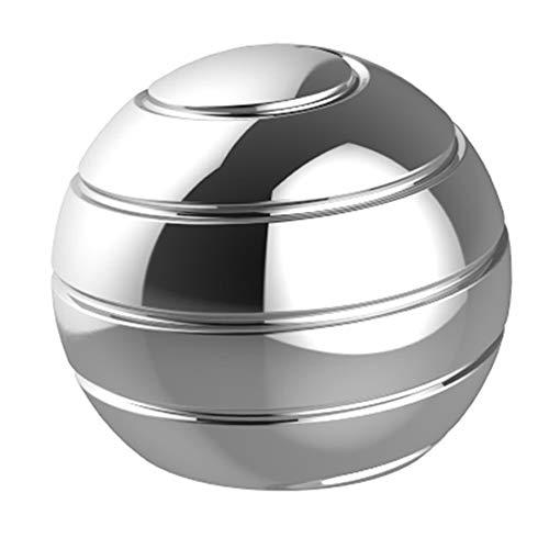Fantes Kinetic Spinning Desk Spielzeug Angstentlastung Stress ADHS Angst Helfer (Dia-38mm, Silber)