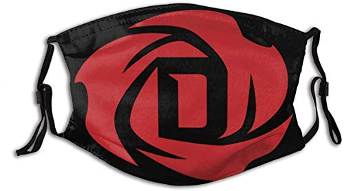 Derrick Basketball Rose Face Mask With Filter Anti Dust Reusable Bandanas Balaclava Washable Breathable Mask For Men and Women