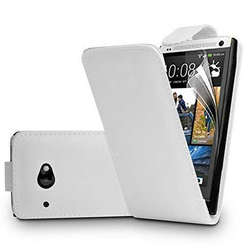 Hoesje Cover portemonnee Houder Video Book flap leder PU voor HTC Desire 601 Zara/Dual Sim - WHITE