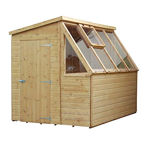 WALTONS EST. 1878 Wooden Garden Potting Shed Greenhouse 8x6 Outdoor Storage Pent Roof (8 x 6 / 8Ft x 6Ft)