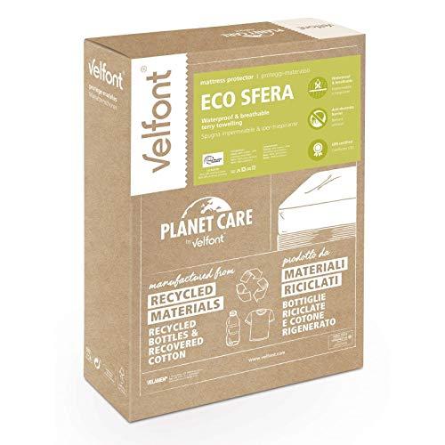 VELFONT - VELFONT protege colchón ecológico impermeable, antiácaros y transpirable. Ecoesfera 90 x 200 cm - Blanco, 90 x 200 cm