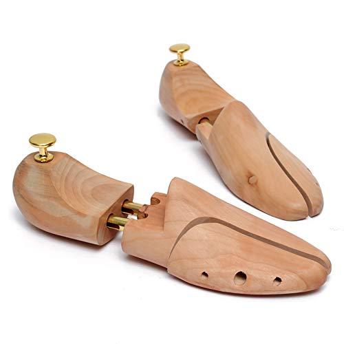 Ensanchador De Zapatos, Moldeador De Soporte Ajustable Para Zapatos, Ensanchador De Zapatos De Madera De Cedro Con Botones De Juanete, Estirador De 2 Vías Para Ajustar La Longitud Y El Ancho