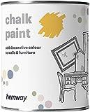 Hemway Pintura de tiza amarilla con acabado mate para pared y muebles, 1 litro, estilo Shabby Chic Vintage Chalky (50+ colores disponibles)