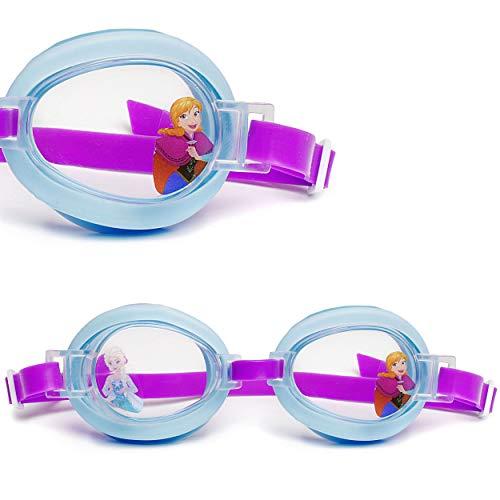 alles-meine.de GmbH Schwimmbrille / Taucherbrille / Chlorbrille -  Disney Frozen - die Eiskönigin  - Kinder von 2 bis 12 Jahre - verstellbar / wasserdicht & Anti Beschlag - Mäd..