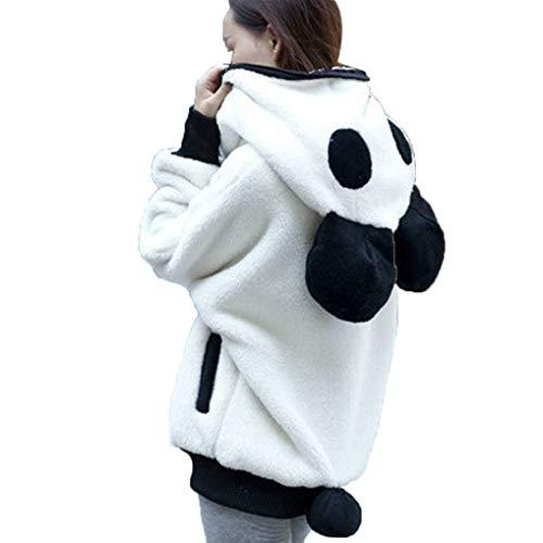FNKDOR Sweats à Capuche pour Femmes Mignon Ours Panda Hiver Chaud Manteau À Capuche Femmes Manteau...