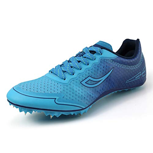 ZAKEY Herren Damen Lauf- und Feldschuhe Spikes Track Race Jumping Sneaker Professionelle Laufschuhe Nagelspitzen Schuhe für Kinder, Blau (blau), 41 EU