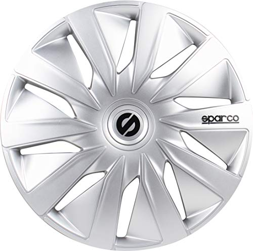 SPARCO SPC1690SV Enjoliveur Lazio, Argent, Set de 4, 16\