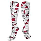 MISS-YAN-Bandera Japón Nos Collage de calcetines para los hombres y de las mujeres loca divertida corrientes atléticos Trel Deportes sobre la pantorrilla Calcetines