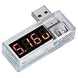 Tomantery Probador de Voltaje de Corriente Probador de Voltaje de Detector USB para Laboratorios para fábricas(White)