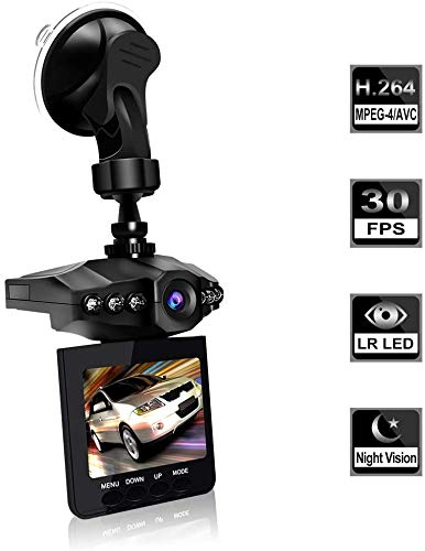"""Dash Cam, Car Dash Cam, 2.5"""" Wide Angle Car Driving Recorder Dashboard Camera, Car DVR Vehicle Dash Cam with Night Mode, WDR, Loop Recording Excellent Video Images"""