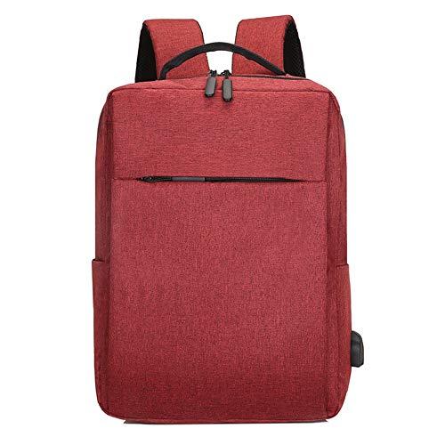 Chutoral Business-laptop-rugzak, schoolrugzak, reisdagrugzak, laptoptas, laptoptas, college-rugzak voor reizen, business, college, vrouwen/mannen rood
