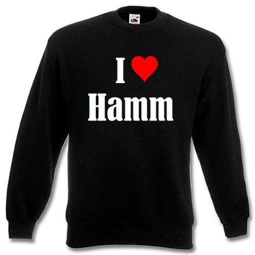 Reifen-Markt Sweatshirt I Love Hamm Größe 2XL Farbe Schwarz Druck Weiss
