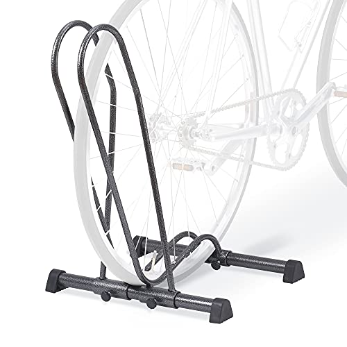 Delta Cycle & Home Indoor Adjustable Single Bike Floor Stand for Mountain, Fat Tire, Road, Kids Bicycles and eBikes — Freestanding Bicycle Storage Rack
