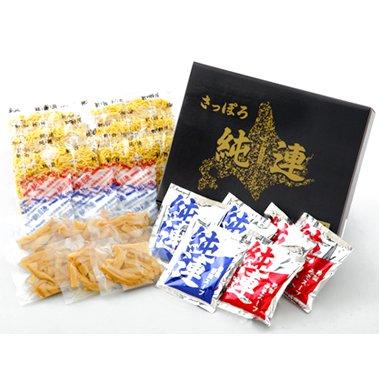 さっぽろ ラーメン 純連 6食 詰め合わせ(メンマ付き) 味噌味・醤油味セット J6S
