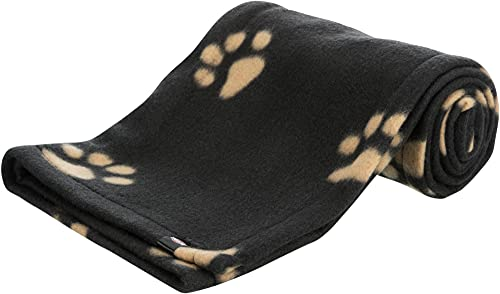 Trixie Manta para Perros Mascotas - Manta Sofa Suave Manta para Mascotas Perros Gatos Cálida Protección Manta Beany 100x70 cm Negro