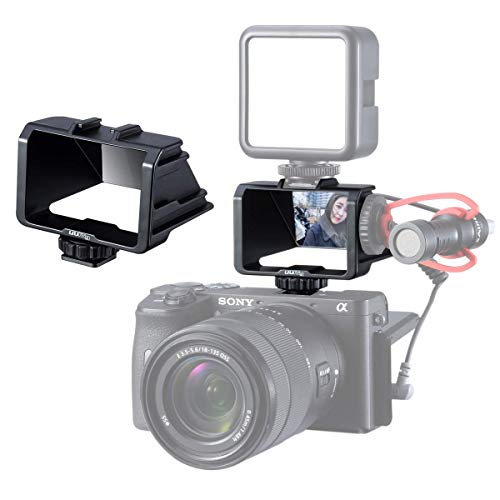 UURig R031 自撮りモニター カメラフリップスクリーンミラー3コールドシューマウントマイクライトスタンド...
