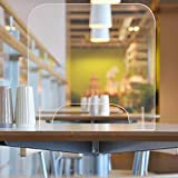 Sneeze Schutzschild, Empfangs-Bildschirm-Isolierung, Thekenschutz mit Transferklappe, tragbarer Arbeitsplatten-Bildschirm, transparente Anti-Spray-Schreibtisch-Trennwand, 40x40x0.5cm