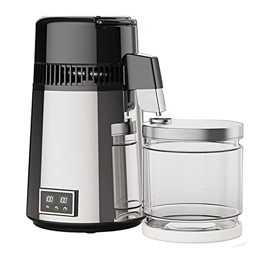 LIMIAO Best in Class Water Distiller with Glass Carafe, 304 Stainless Steel Purifier Filter for Home Countertop Table, Make Clean Water for The Family