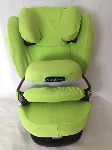 Sommerbezug Schonbezug für Cybex Pallas M und S + M- und S-Fix Frottee 100% Baumwolle grün
