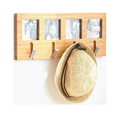 OH Perchero Montado en la Pared Perchero, Bambú Enganchan el Estante Creatividad Escudo Ganchos Sombrero Colgador de la Rejilla de Entrada, Baño, Dormitorio Perchero habitación/Na