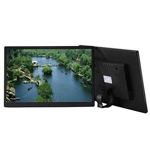 ZGYQGOO Digitaler Bilderrahmen, Digitaler Bilderrahmen Metall 15,6-Zoll-Digital Mall LCD-Werbemaschine Loop-Video-HDMI mit automatischer Drehung, Fernbedienung, Kalender, Wecker