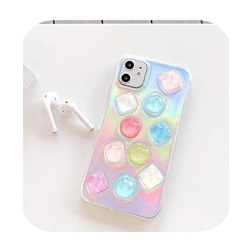 Fun-boutique - Carcasa para iPhone 11 11 11 Pro XS Max 7 8 6 Plus XR X, diseño de gota de cristal 3D