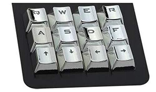 YEZIN Capas de Llave para el Teclado 12 Key Silver Trail Transparent KeyCap mecánico galvolateado Doble Color Juego Personalizado