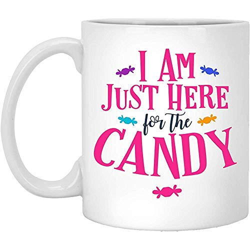 Happy Halloween estoy aquí para el regalo de caramelo taza de café blanco 11 oz