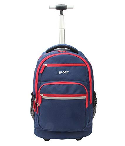 LHY SAVE Rucksack Trolley für Kinder Laptop Rucksack Trolley,Wasserdicht Rucksäcke Für Business Reise Und Urlaub Passt Bis Zu 15 Zoll Laptop,Blau