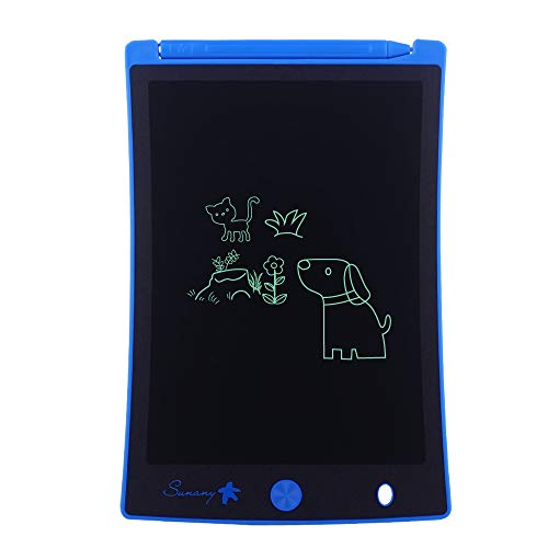 LCD Writing Tablet,Electronic Writing &Drawing Board Doodle Board,Sunany 8.5' Handwriting Paper Drawing Tablet Gift for Kids and Adults at Home,School and Office, Blue