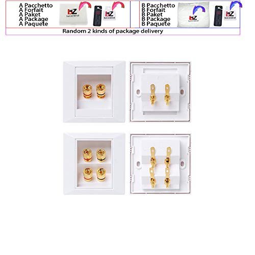 Steckdose Audio-Video-Panel-Lautsprecher Anschlussdose Steckdose,4,White
