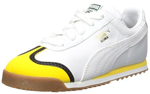 PUMA Baby Minions Roma Kids Sneaker, White-Minion Yellow White, 7 M US Toddler
