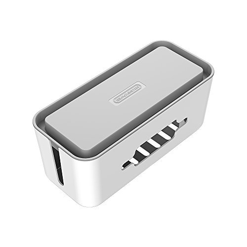 NTONPOWER Caja para organizar cables con soporte para teléfonos, dimensiones 31 x 13,7 x 13