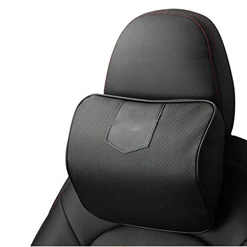 DANDELG Leder Auto Nackenkissen, Für Audi A1 A3 A4 A6 A8 Q2 Q3 Q5 Q7 S3 S5 TT R8 RS5 RS6 RS7