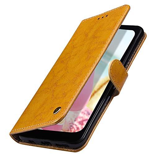 MoreChioce Coque Galaxy J5 2016,compatible avec Coque Samsung Galaxy J5 2016 Clapet,Orange Housse à Rabat Etui en Cuir Portefeuille Wallet Cover Étui de Protection Magnétique avec Support