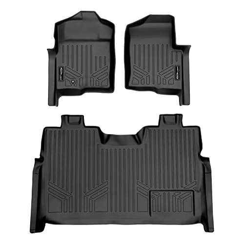 MAXLINER Floor Mats 2 Row Liner Set Black for 2009-2010 Ford F-150 SuperCrew Cab