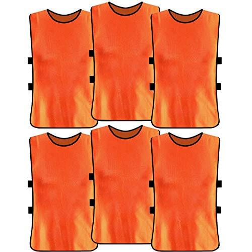 Wallfire 6 stücke fußballtraining lätzchen atmungsaktive helle Farbe Erwachsene Sport fußball Scrimmage trainingswesten für Volleyball fußball Basketball