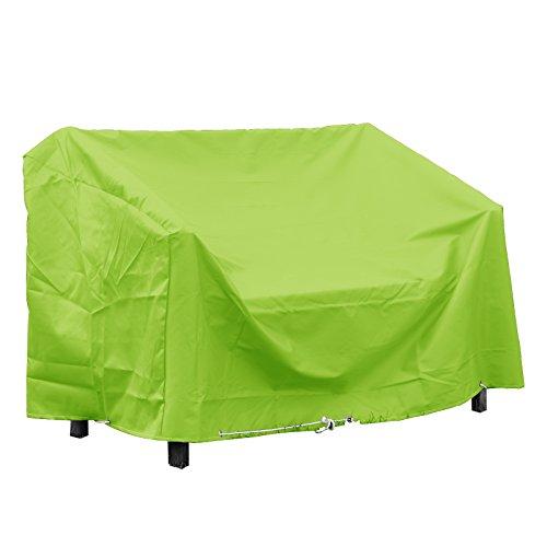 Green Club beschermhoes voor tuinbank, hoogwaardig, polyester, 160 x 60 x 80 cm, groen
