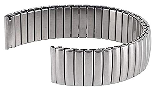 Lzpzz Banda de Reloj de Acero 18mm de Reloj de Reloj de Reloj de Metal Pulsera de Plata Flexible Acero Inoxidable Reloj Banda de la Banda de la Correa de la Correa de Las Mujeres para Mujer