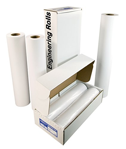 Alliance Paper Rolls, Bond Engineering, 18� x 500�, 92 Bright, 24lb - 4 Rolls Per Carton with 3� Core