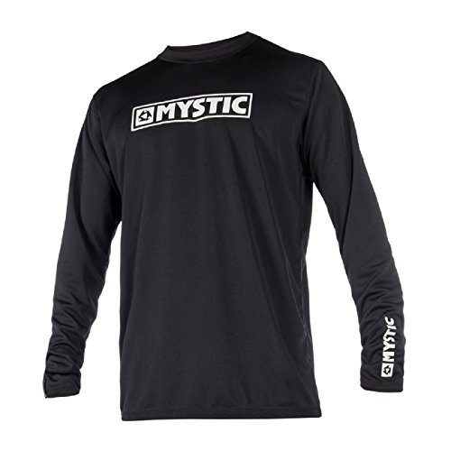 Mystic Wassersport - Surf Kitesurf & Windsurfen Star Long Sleeve Loosefit Schnell Dry Rash Vest Top Black - UV Sun
