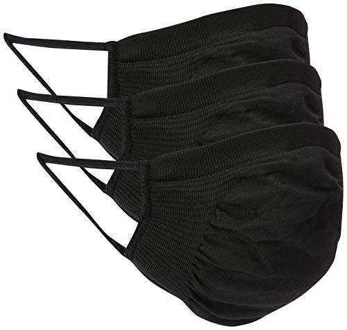 Kit com 3 Máscaras Microfibra Trifil, Preto Único