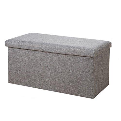 Yujiao Mao Faltbarer Sitzhocker Stabiler Sitzwürfel Aufbewahrungsbox 40x25x25cm, Grau