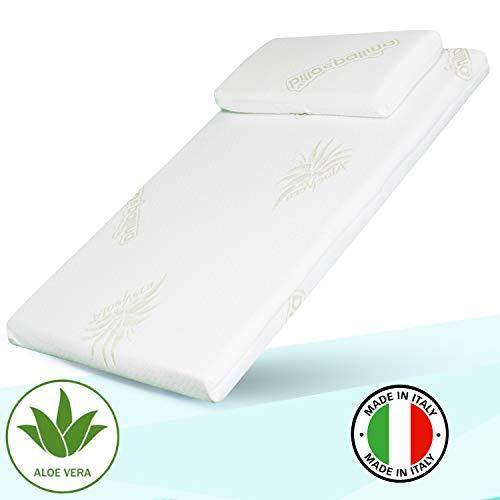 Materasso Culla Next to Me Aloe-Culla Neonato-Lettino Bambino-Cuscino Neonati-Culle Bambini- Letto Prima Infanzia- Materassino Universale Antisoffoco Made in Italy 80x50cm (next)