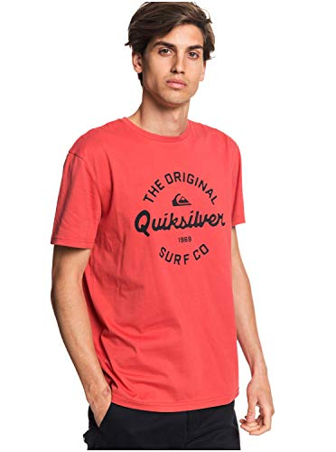 Quiksilver Eye On The Storm - Camiseta para Hombre Screen tee, Hombre, Baked Apple, M