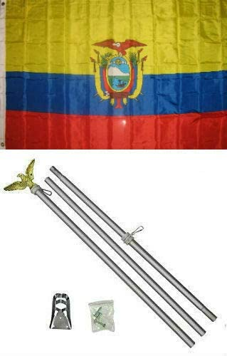 JumpingLight 3x5 Max 55% OFF Ecuador Very popular Flag Aluminum Qualit Kit 3x5- Pole Set