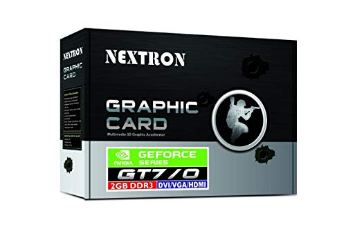 Nextron Technology Nvidia GeForce GT 710 2GB 64-Bit DDR3 PCI Express Graphic Card with 3D Accelerator/Silent Cooling/Heat Sink with Fan