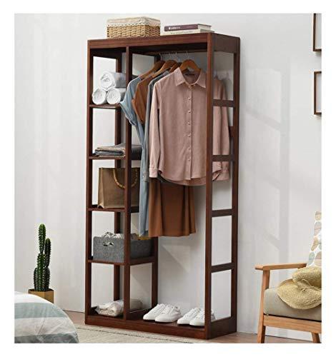 FF Moderne kapstok Vloerrek Massief houten kapstok Eenvoudige garderobe Huishouden Multifunctionele kapstok (Maat: bruin 120cm)